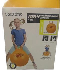 Фото 2 к товару Мяч гимнастический с насосом Torneo Anti-Burst Gymball A-300 (55 см)