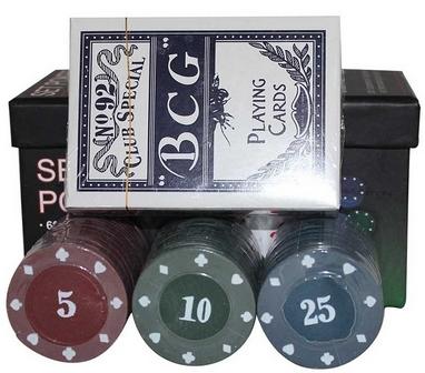 Набор для игры в покер, 60 фишек с номиналом 701828