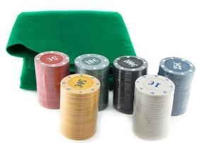 Фото 2 к товару  Набор для игры в покер, 120 фишек с номиналом IG-6612