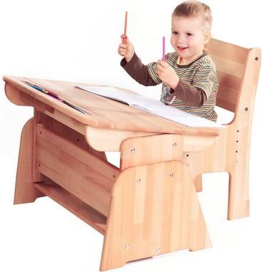 Парта растишка с пеналом Абсолют мебель