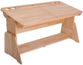 Фото 1 к товару Парта растишка с пеналом Абсолют мебель