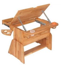 Фото 4 к товару Парта мольберт с выдвижным ящиком Абсолют мебель