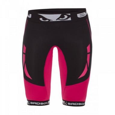 Шорты компрессионные женские Bad Boy Compression Shorts Black/Pink