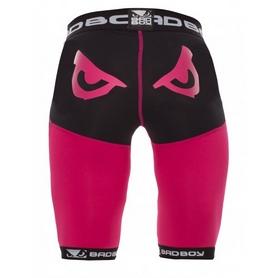 Фото 2 к товару Шорты компрессионные женские Bad Boy Compression Shorts Black/Pink