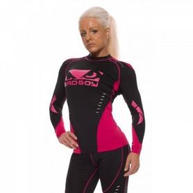 Фото 4 к товару Рашгард женский с длинным рукавом Bad Boy Sphere Black/Pink