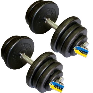 Гантели наборные стальные Newt Home 2 шт по 25,5 кг + подарок