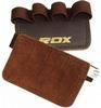 Накладки для подтягивания RDX Leather Brown - фото 1