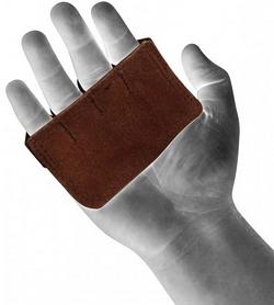 Фото 2 к товару Накладки для подтягивания RDX Leather Brown