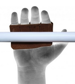 Фото 3 к товару Накладки для подтягивания RDX Leather Brown