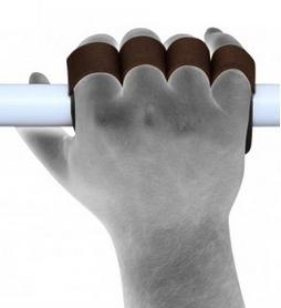 Фото 4 к товару Накладки для подтягивания RDX Leather Brown