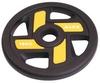 Диск олимпийский полиуретановый 15 кг Alex с хватами цветной - 51мм - фото 1
