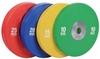 Диск олимпийский бамперный 15 кг Rising PL41B-15 цветной - 51мм - фото 1