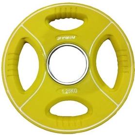 Диск олимпийский полиуретановый 1,25 кг Stein DB6092-1.25 с хватами цветной - 51мм