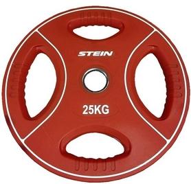 Диск олимпийский полиуретановый 25 кг Stein DB6092-25 с хватами цветной - 51мм