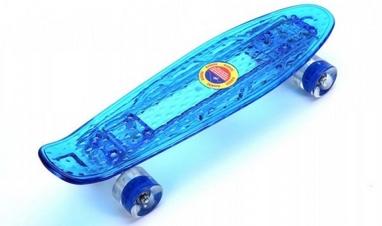 Скейтборд Penny Board Luminous PU SK-5357-1 (синий)