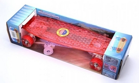 Фото 4 к товару Скейтборд Penny Board Luminous PU SK-5357-4 (красный)