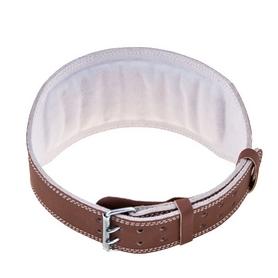 Фото 2 к товару Пояс штангиста BWS-6PUBRW широкий коричневый
