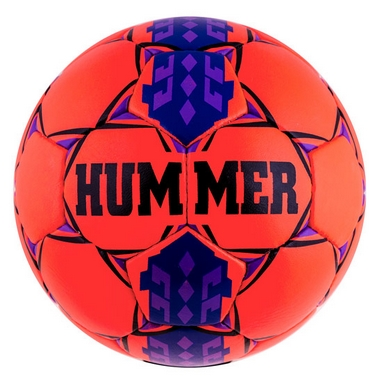Мяч футбольный Hummer Cordly Orange Purple/Blue
