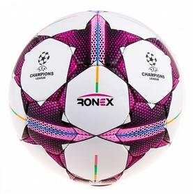 Фото 1 к товару Мяч футбольный Ronex DXN (Finale) Pink/Black