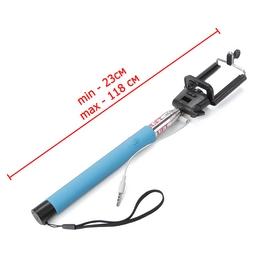 Фото 4 к товару Монопод для селфи со шнуром UFT SS1 Light Blue