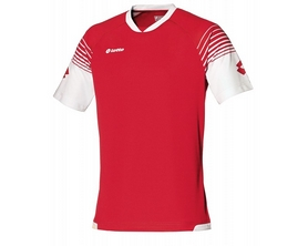 Футболка футбольная Lotto Jersey Omega Q8528 Flame/White