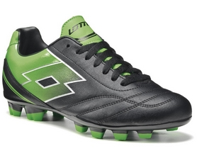 Бутсы футбольные Lotto Spider X TX R5743 Black/Fluo Mint