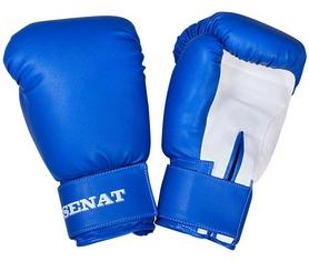 Перчатки боксерские Senat 1512 сине-белые