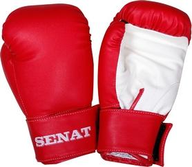 Перчатки боксерские Senat 1550 красно-белые