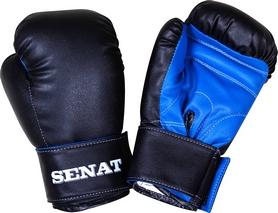 Перчатки боксерские Senat 1550 черно-синие