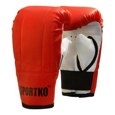 Перчатки снарядные кожаные Sportko PD-3-R красные