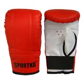 Фото 2 к товару Перчатки снарядные кожаные Sportko PD-3-R красные