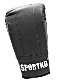 Перчатки снарядные кожаные Sportko PD-3-B черные