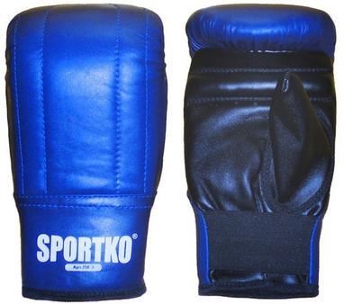 Перчатки снарядные кожаные Sportko PK-3-BL синие