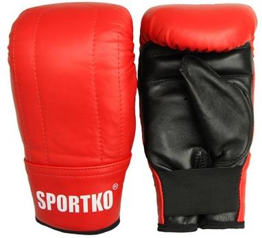 Перчатки снарядные кожаные Sportko PK-3-R красные