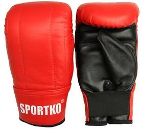 Фото 1 к товару Перчатки снарядные кожаные Sportko PK-3-R красные
