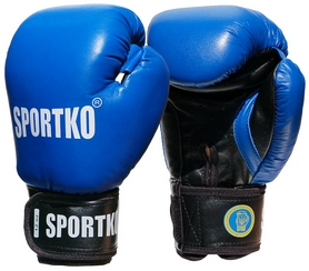 Перчатки боксерские Sportko ФБУ PK-1BL синие