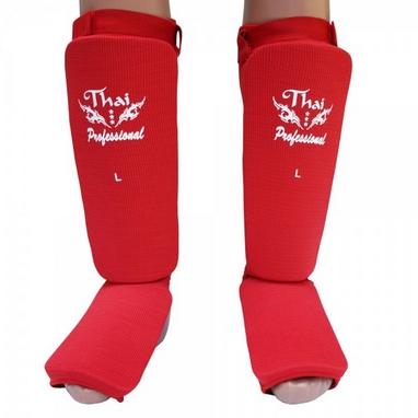 Защита ног (голень+стопа) Thai Professional SG5 красная