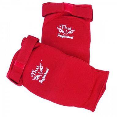 Налокотники для тайского бокса ThaiProfessional EB1 красные
