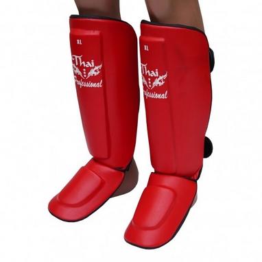 Защита ног (голень+стопа) Thai Professional SG3 красные