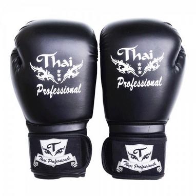 Перчатки боксерские Thai Professional BG3 TPBG3-BK черные