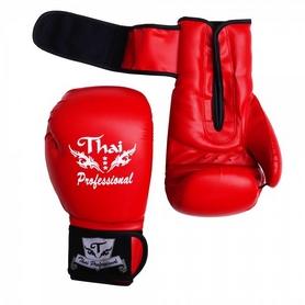 Фото 2 к товару Перчатки боксерские Thai Professional BG3 TPBG3-R красные