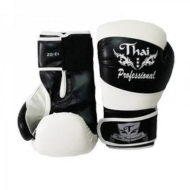 Фото 2 к товару Перчатки боксерские Thai Professional BG7 TPBG7-BK-W черно-белые