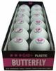 Набор мячей для настольного тенниса Butterfly G40+ Plastic 3* (12 шт, белый) - фото 2