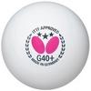 Набор мячей для настольного тенниса Butterfly G40+ Plastic 3* (3 шт, белый) - фото 1
