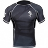 Рашгард Hayabusa Metaru 47 Rash Guard Shortsleeve Black - фото 1
