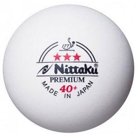 Набор мячей для настольного тенниса Nittaku Premium 3* 40+ ITTF (3 шт., белые)