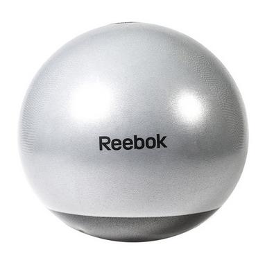 Мяч для фитнеса (фитбол) 75 см Reebok серый с черным