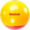 Мяч для фитнеса (фитбол) 65 см Reebok с усиленным дном желтый с красным - фото 1