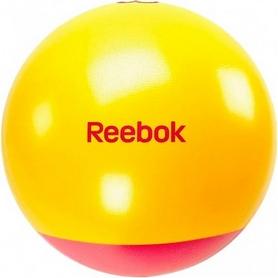 Фото 1 к товару Мяч для фитнеса (фитбол) 65 см Reebok с усиленным дном желтый с красным