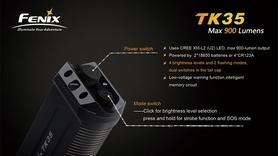 Фото 6 к товару Фонарь тактический Fenix TK35 Cree XM-L2 U2 LED